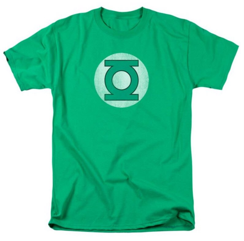 Green Lantern Distressed Logo T-shirt-tvso
