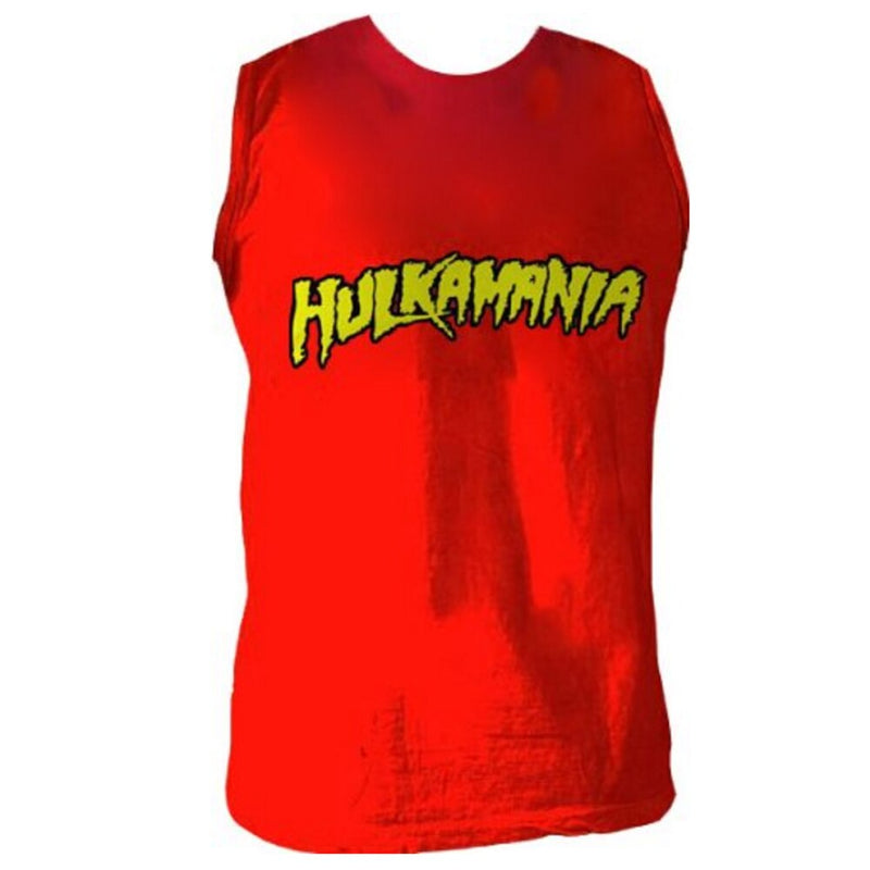 Hulk Hogan Hulkamania Sleeveless Red T-shirt-tvso