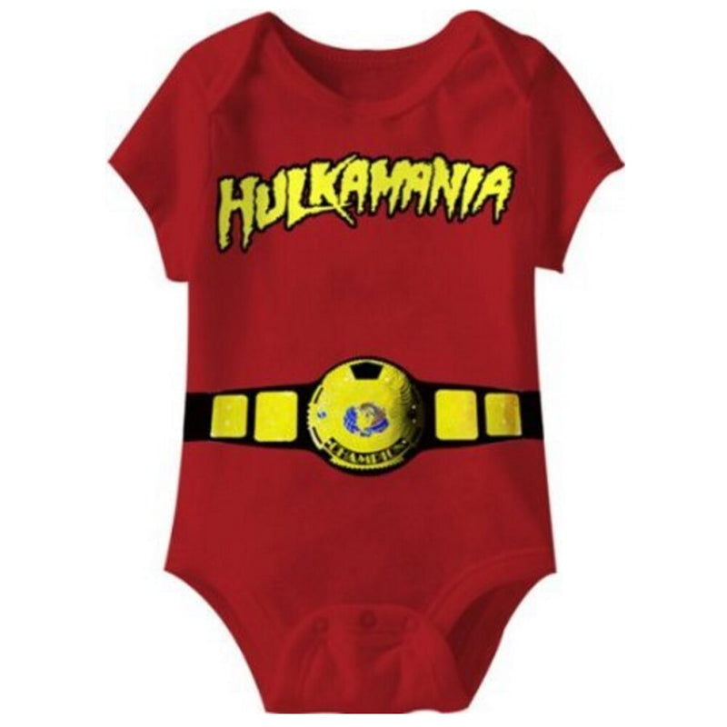 Hulkamania World Red Champ Infant Romper-tvso