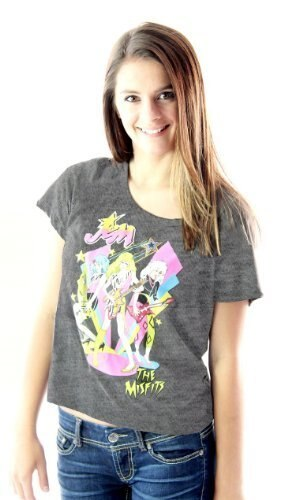 Jem and the Holograms The Misfits Playing Retro T-Shirt-tvso