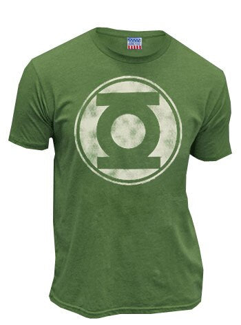 Green Lantern Distressed Logo Mens T-shirt-tvso