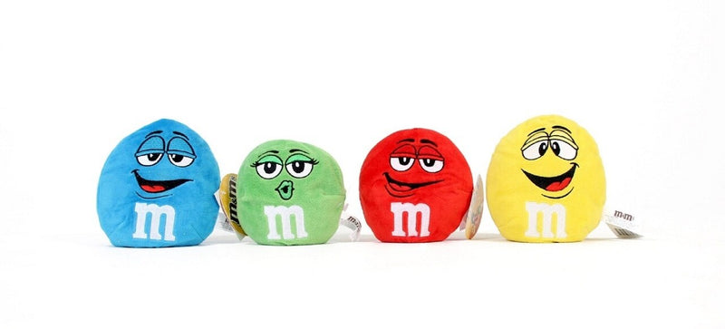 M&M's Chocolate Candy Character Face Plush Beanie Ball-tvso