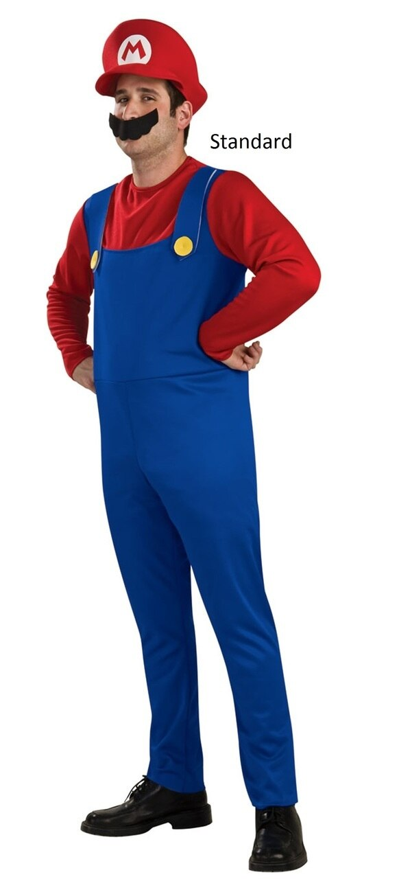 Super Mario Bros Adult Mario Costume-tvso