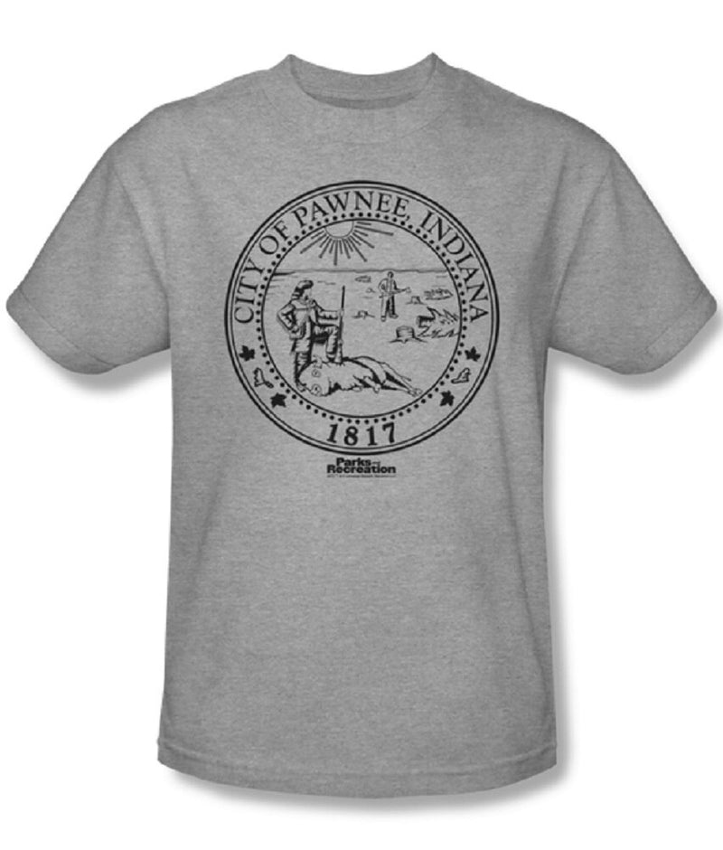 Parks and Recreation Pawnee Seal T-Shirt-tvso