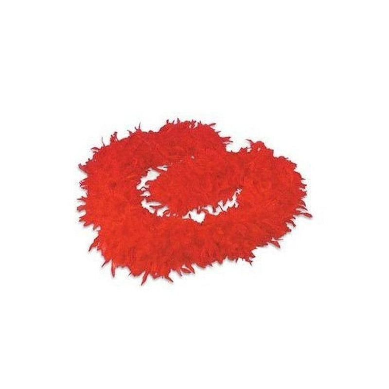 Red Feather Boa-tvso