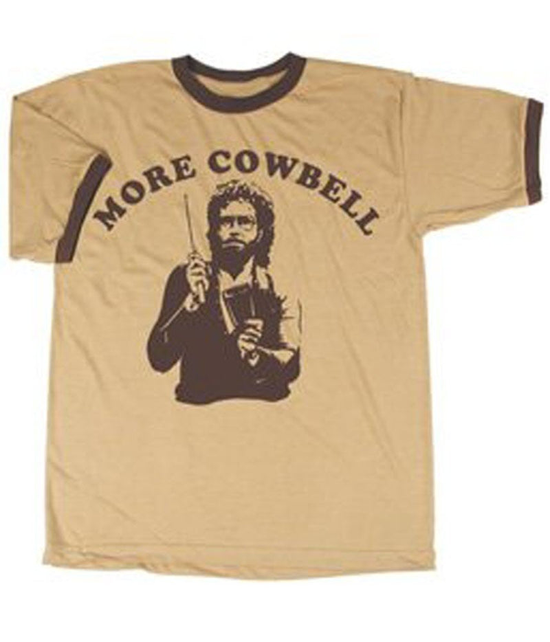 SNL More Cowbell Cream/Tan T-shirt-tvso