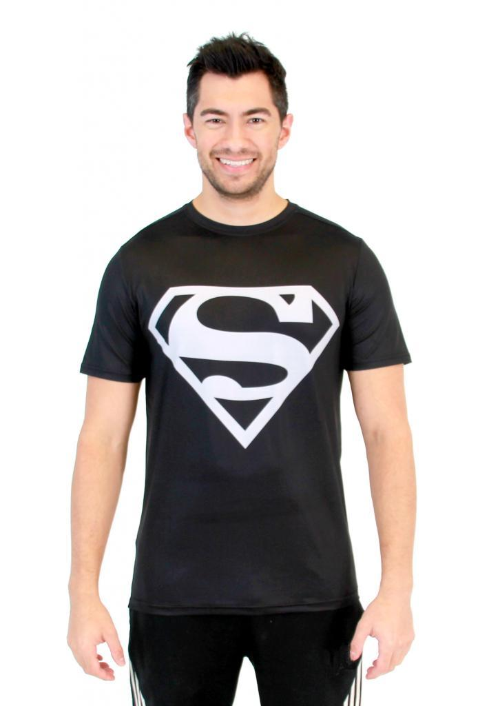 Superman Silver Logo Performance Athletic T-Shirt-tvso