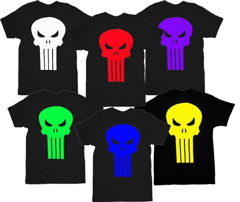 The Punisher Movie Skull Logo T-Shirt Tee-tvso