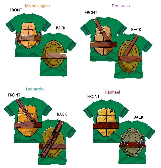 TMNT Striped Sleeves Boys Costume T-shirt-tvso