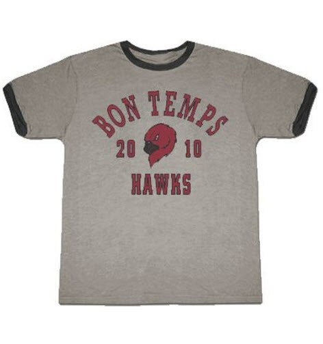 True Blood Bon Temps Football Ash Gray With Ringers T-shirt-tvso