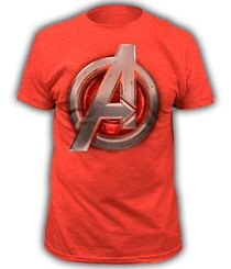 Marvel The Avengers Age of Ultron Adult Heather Red T-Shirt Tee