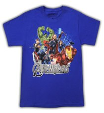 The Avengers Team Superglow Royal Blue Youth T-Shirt