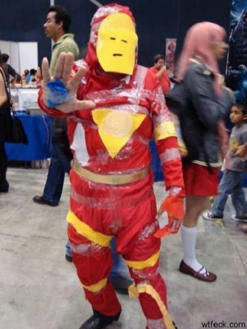 Scotch Tape Iron Man cosplay
