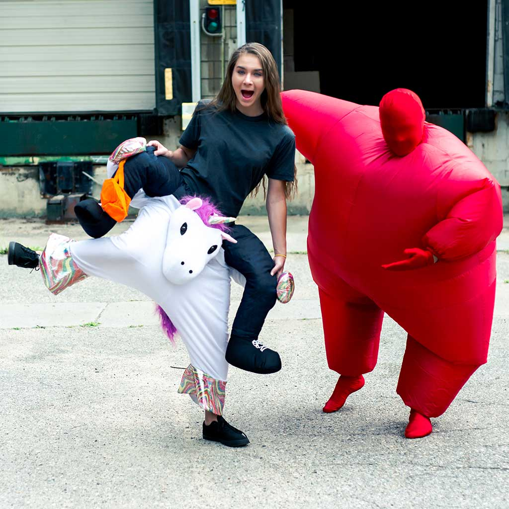 Inflatable Chub Suit Adult Costume Red 1