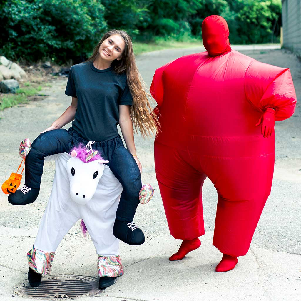 Inflatable Chub Suit Adult Costume Red 2