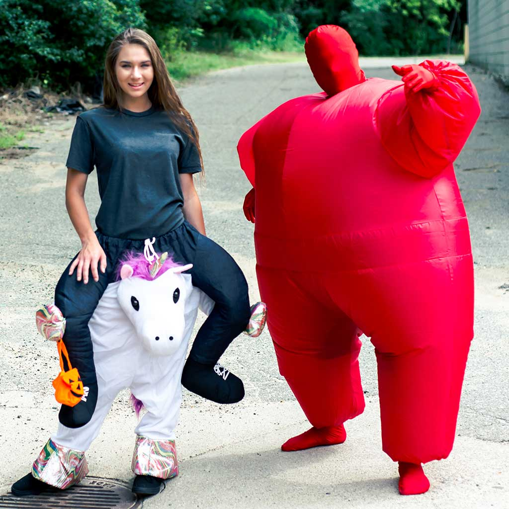 Inflatable Chub Suit Adult Costume Red 3