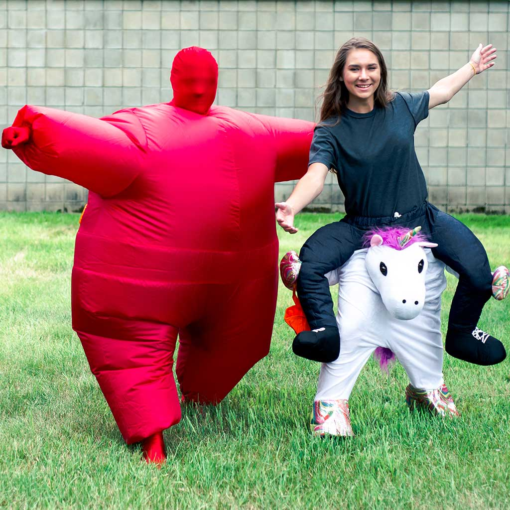 Inflatable Chub Suit Adult Costume Red 4