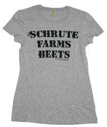 The Office Schrute Farm Beets Gray Juniors/Ladies T-shirt
