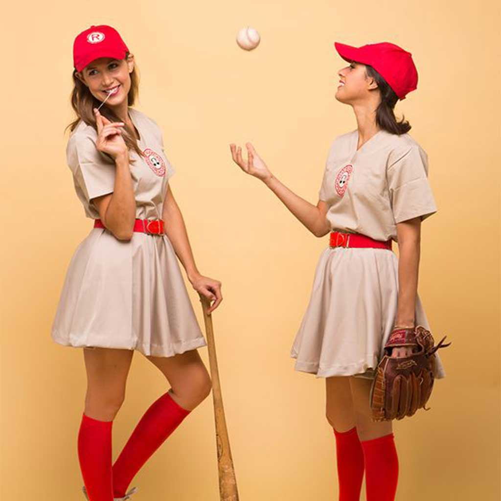Rockford Peaches AAGPBL Baseball Costume Dress Girls