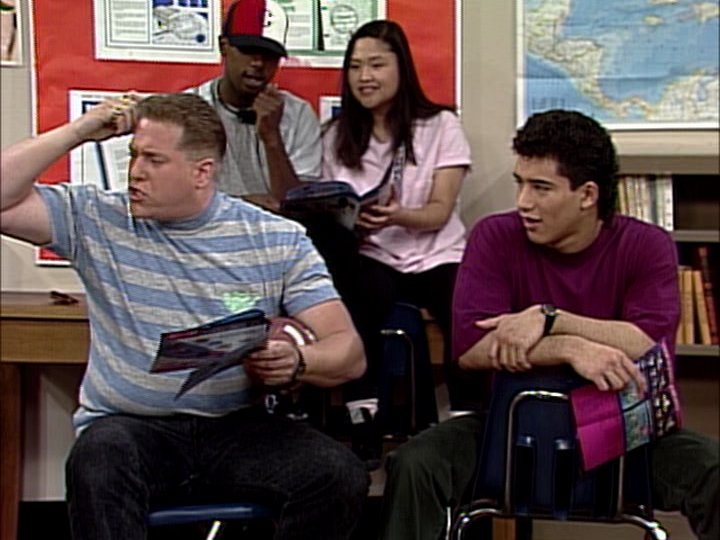 Troy Fromin and Mario Lopez on Saved by The Bell
