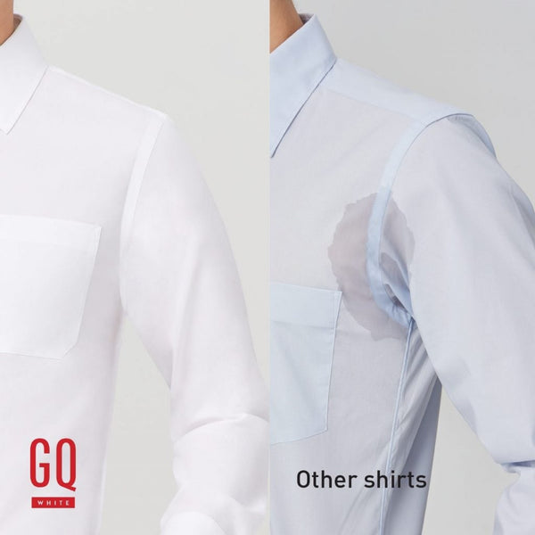 GQWhite™ reduces the appearance of sweat stains comparison
