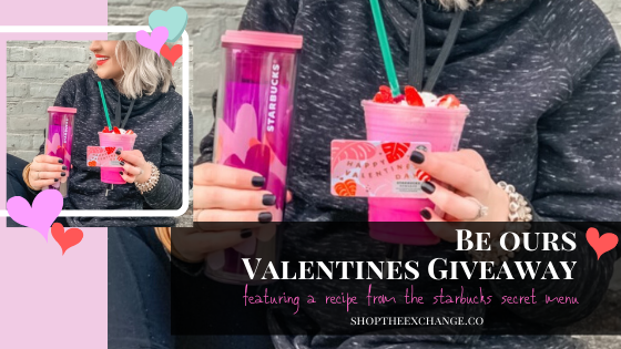 Be Ours: Valentine's Day Giveaway - featuring a secret Starbucks Valentine Frappuccino Recipe