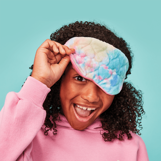 Cotton Candy Heart Quilted Eye Mask