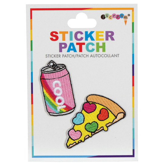 Soda and Pizza Embroidered Sticker Patch