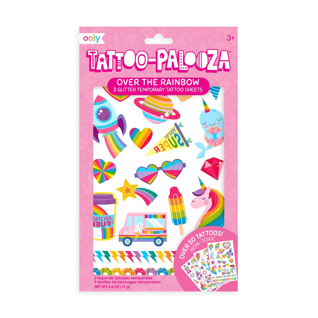 Tattoo Palooza Temporary Glitter Tattoo: Over The Rainbow - shoptheexchange