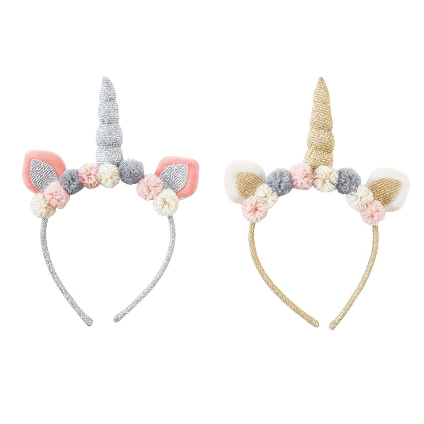 Unicorn Pom Pom Headband - shoptheexchange