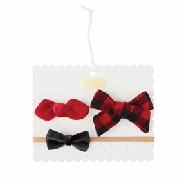 Buffalo Check Bow Set