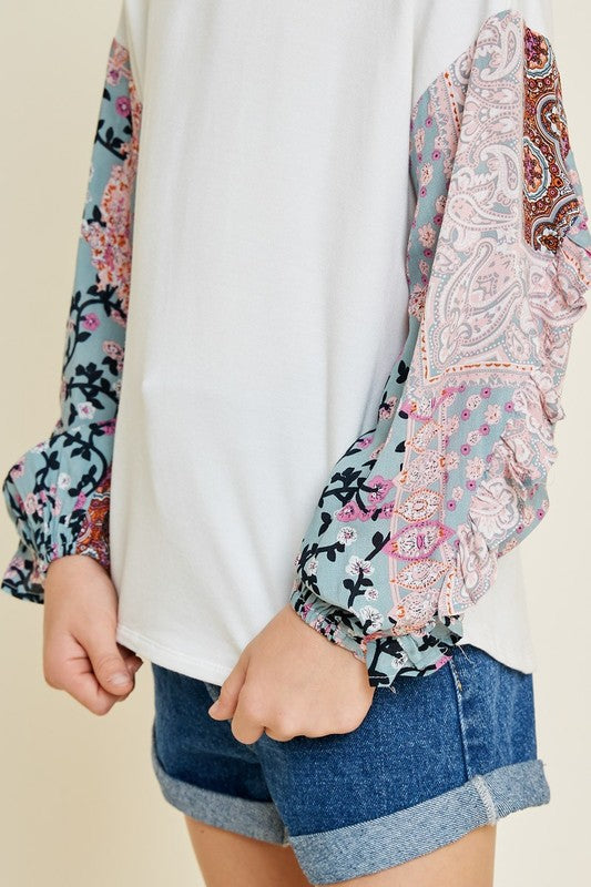 Just Like It Paisley Print Top