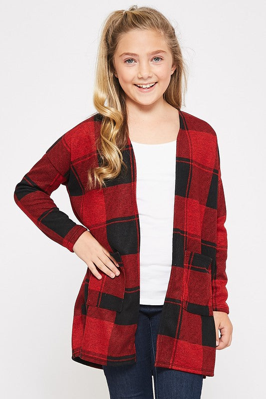 Everything My Way Buffalo Plaid Cardigan - shoptheexchange