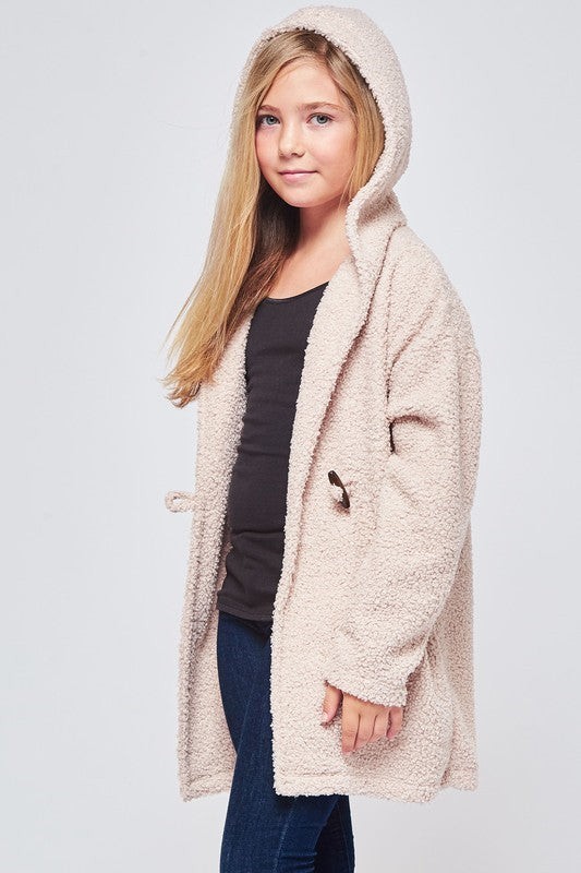 Call It Cozy Poodle Hooded Cardigan - shoptheexchange