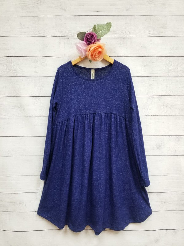 Sure And Certain Cobalt Baby Doll Dress - shoptheexchange