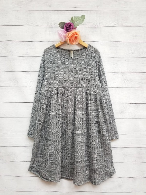 Sure And Certain Charcoal Baby Doll Dress - shoptheexchange