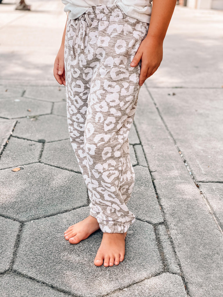 Totally Worth It Taupe Leopard Joggers