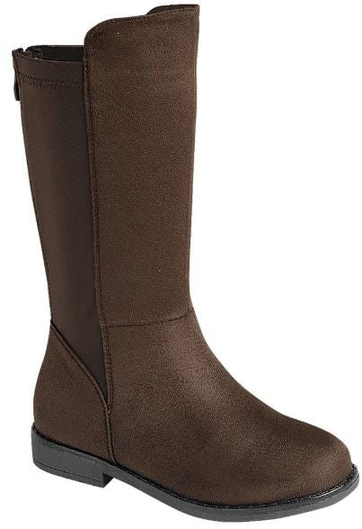 No Missteps Brown Knee High Boots - Tween