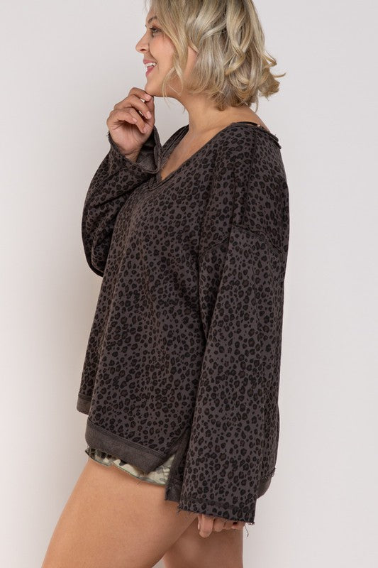 Reverse It Up French Terry Knit plus size top - shoptheexchange