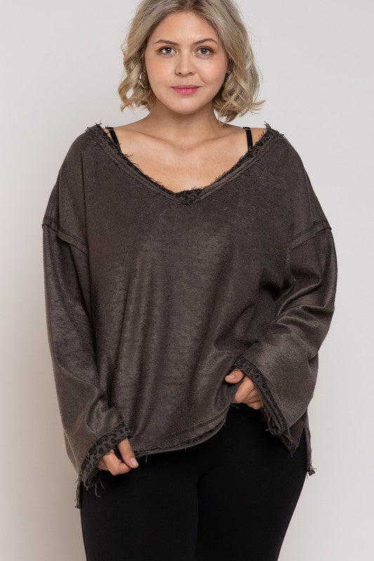 Reverse It Up French Terry Knit plus size top