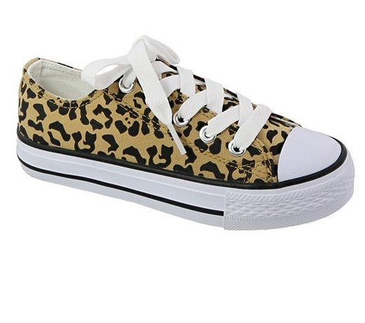 Crushed It Leopard Sneakers - Tween