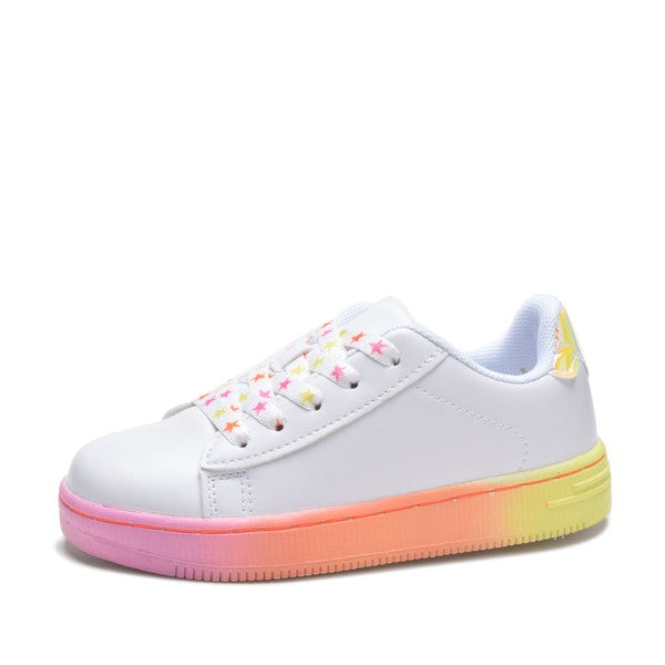 Rainbow With Star Detail Sneakers - Tween - shoptheexchange