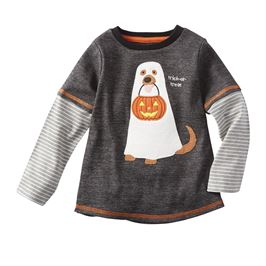 Dog trick or treat Halloween shirt - shoptheexchange