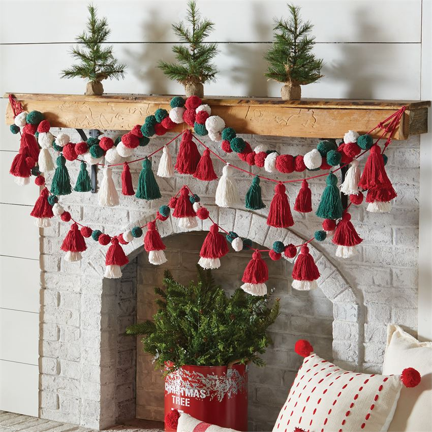 Mudpie Layered Tassel Garland - shoptheexchange