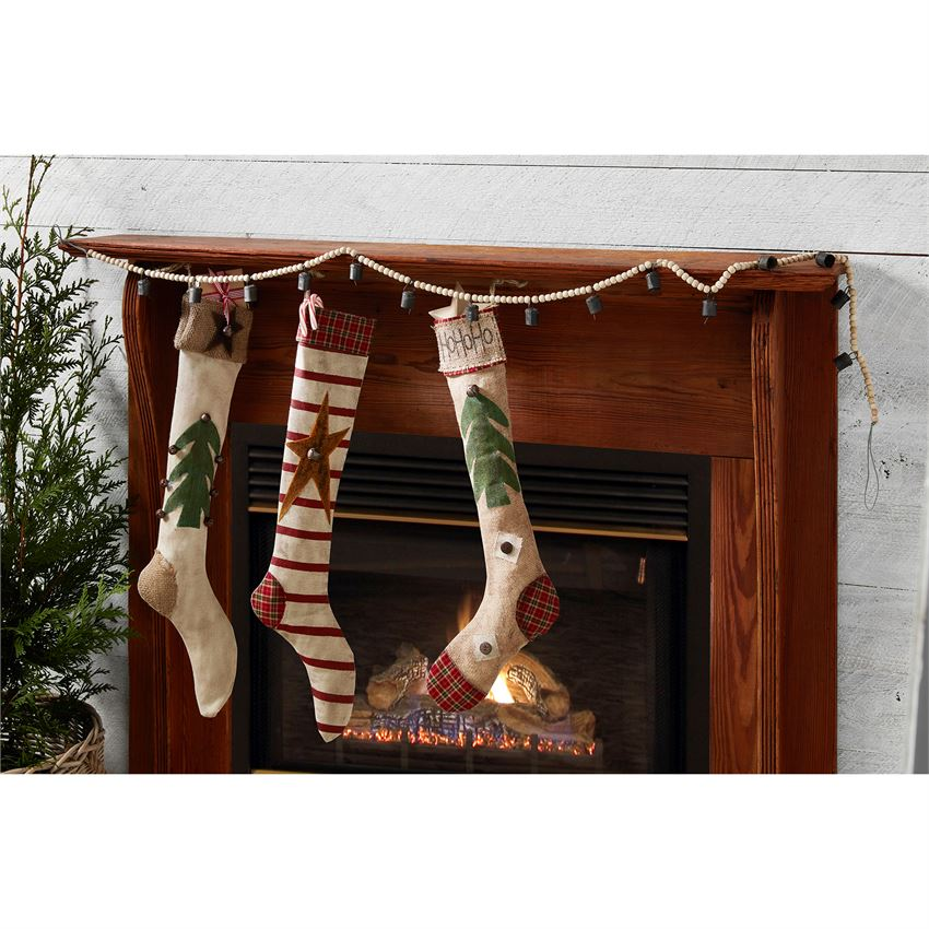 Wood and Jingle Bell Garland