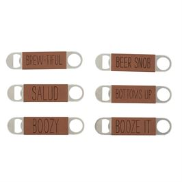 Leather Wrapped Bottle Opener - shoptheexchange