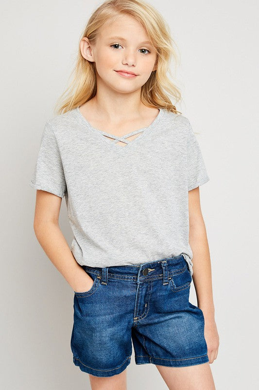 Anything But Basic Heather Grey Tee