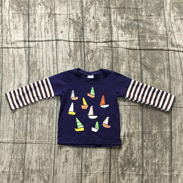 Sail Away Nautical Shirt - shoptheexchange