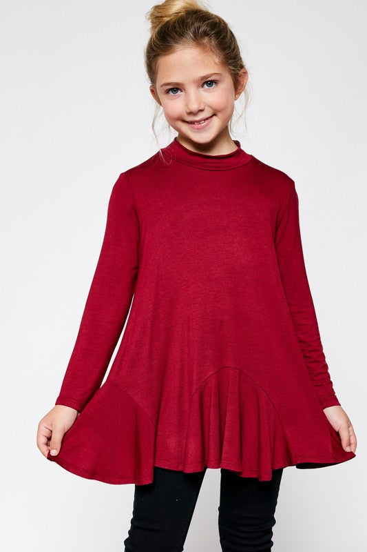 No Ordinary Day Red Mock Neck Top