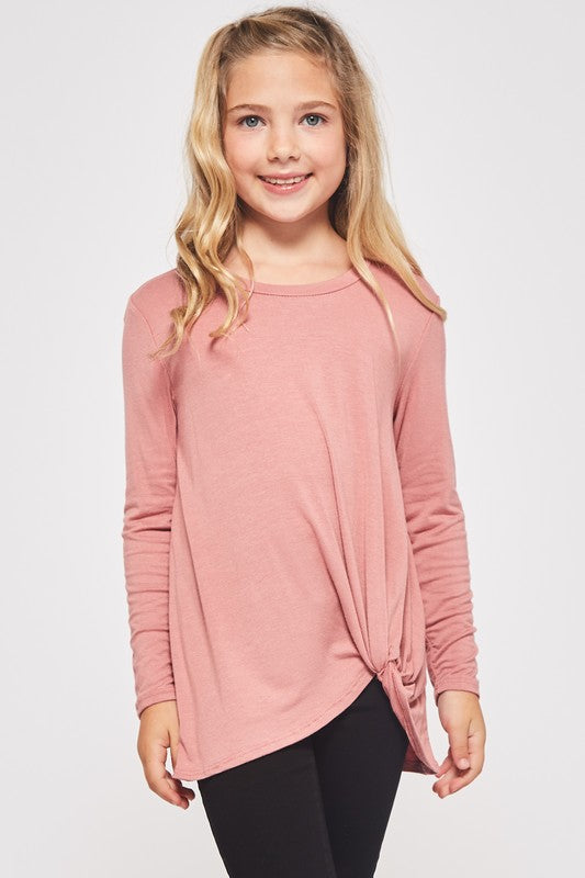 Dusty Pink Knotted Tunic Top